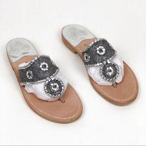 New Jack Rogers Metallic Whipstitch Thong Sandal